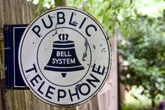 Vintage Large Bell System Public Telephone Metal Sign by MRCG on Etsy https://www.etsy.com/listing/194718016/vintage-large-bell-system-public