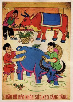 Not-so-common propaganda art www.emporiumhanoi.com #Vietnam #Hanoi #retro #propaganda #poster #art #collector #history