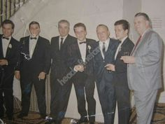 (From left to right) Patrick Spilotro, John Spilotro, Phil Alderisio, Tony Spilotro, Irv Weiner, Michael Spilotro, and unknown at a wedding.