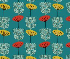 A modern floral design for Summer prints....