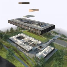 axonometric The University of the West of Scotland / RMJM