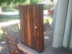 barnwood medicine cabinet hand planned/linseed oil. $85.99, via Etsy.