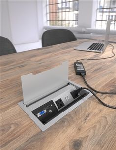 ECA Interact G2 - provides power, data and USB charging accessible at table top with additional convenience outlet located underneath for added utility power