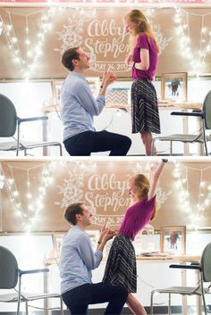 He asked her to marry him in the same classroom where they met, and every detail is so sweet!