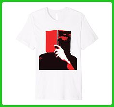 Mens retro artsy t shirt for book lovers  2XL White - Retro shirts (*Amazon Partner-Link)