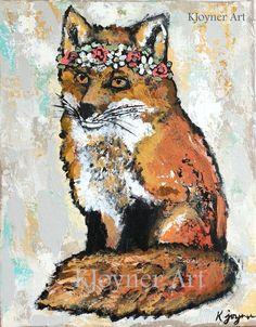 Fox Painting By Kendra Joyner