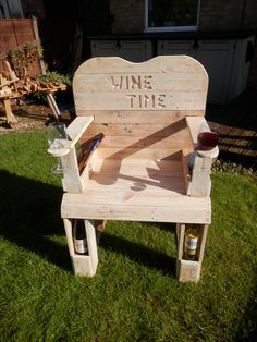 Wine drinkers chair | things to build | Pinterest | Wine