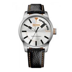 Boss Orange - Men\'s Tokyo Black Leather Silver Dial Watch - 1513215 - Online Price: £99.00