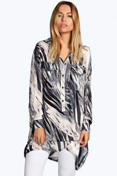 Shellie Printed Half Placket Boyfriend Shirt. Get unbelievable discounts up to 60% Off at Boohoo using Coupon & Promo Codes.