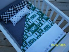 MICHIGAN STATE Bitty Baby Crib 7Piece Bedding Set by kmblarney, $19.50
