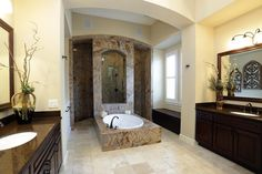 house plans with walk through shower | decadent walk through shower with tile decorative detail dressing ...