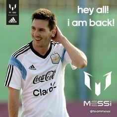 Messi is back! :3