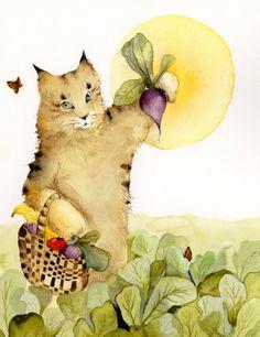 Farmhand- cat on the farm.  (On Etsy)