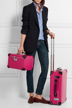 "Globe-Trotter - Candy 13"" Leather-trimmed Fiberboard Vanity Case - Fuchsia - one size"