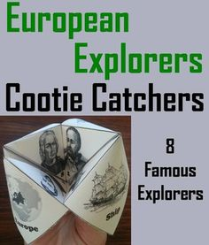 These cootie catchers/ fortune tellers are a great way for students to have fun while learning about the famous European explorers. How to Play and Assembly Instructions are included.These cootie catchers contain the following European explorers: Christopher Columbus, Ferdinand Magellan, John Cabot, Amerigo Vespucci, Juan Ponce de Leon, Henry Hudson, Vasco de Balboa, Leif Erikson