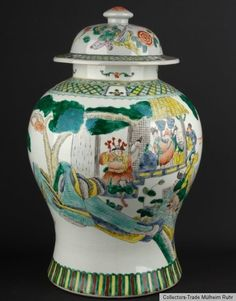 China 19.Jh. Qing - A Chinese Famille Verte Porcelain Vase - Vaso Cinese Chinois