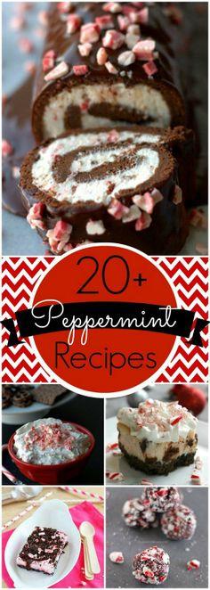 Peppermint Dessert Recipes Round Up #TisTheSeason #Christmas #Holiday Recipes