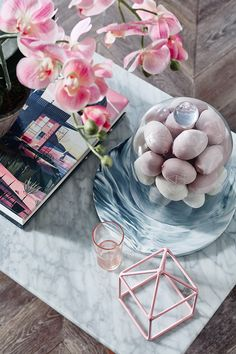 2016 Pantone's Colour(s) of the year ~ Rose Quartz + Serenity from Temple & Webster blog... Photography - Denise Braki. Styling - Jonathan Fleming ♥≻★≺♥