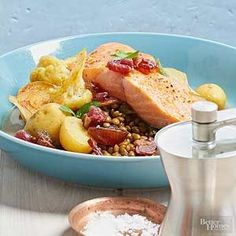 This salmon dish really does pressure-cook in just one minute. /