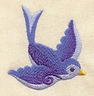 """Embroidery Designs at Urban Threads - Little Swallow 1 (#UT1877) 2.24""""w x 2.48""""h 08 March 2010"""