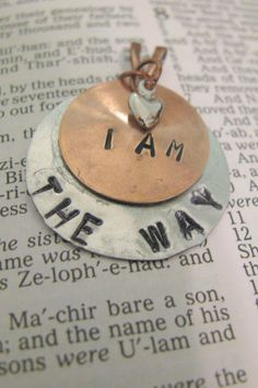 SOLD! - I Am The Way  Hand Stamped Scripture Necklace  by ZivaKreations, $23.00 - SOLD!