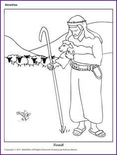 Download Parable Of The Lost Sheep Coloring Page
