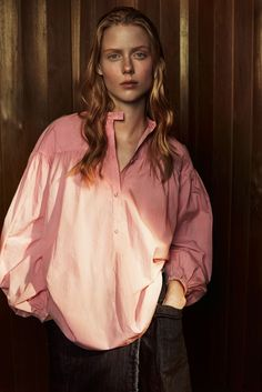 Tomas Maier Spring Summer 2016 collection featured on MatchesFashion.com Style Report - poplin pink blouse