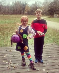 Pippi Longstockings and Captain Hiner- off to the Strawberry Point Pumpkin Walk! by karinlador
