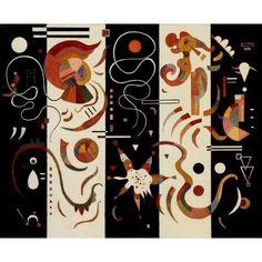 Striped 1934 Canvas Art - Wassily Kandinsky (24 x 36)