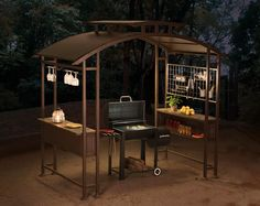 Sunjoy 8 X 5 Ft Mouton Grill Gazebo Turn Grilling Your Dinner Into The Party With This Durable Metal Features A Domed