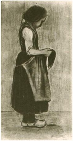 Vincent van Gogh Peasant Girl Standing