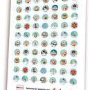 *Esprit de Noël* c147 - Collage de Digitals Fiche images imprimables pour images Cabochon modèle  *DESCRIPTION:* 4 pages avec 4 tailles de cercles numériques Taille de la page - format lettre A4...