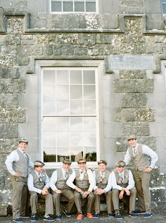 Sharp-dressed #groom and #groomsmen | Photos by Lisa O'Dwyer and Nuria Cañestro
