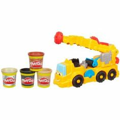 Diggin Rigs Power Crane by Play-Doh. $21.99. Set includes tools, molds and stamper accessorizes. 4 cans of Play-Doh modeling compound included. 10 Play-Doh tools. Buster the Power Crane playset lets you create all kinds of Play-Doh buildings. From the Manufacturer                Build whatever you can imagine with the Buster the Power Crane playset, then knock it down and cut, press and roll something new. The set has 10 Play-Doh tools and 4 colors of Play-Doh modelin...