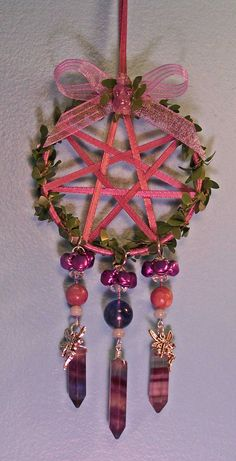 Fairie Star Ornament~ Yule witch craft inspiration Winter Solstice Pagan Witchy