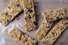 Packed with protein and bee pollen (superfood!), these breakfast bars are a healthy and convenient way to start off the day. Best part: they aren't crazy sweet and would go great with your morning coffee.