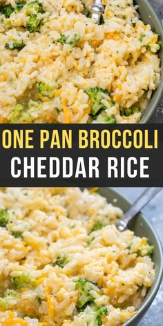 The perfect one pan Broccoli Cheddar Rice! This easy side dish is ultra creamy and cheesy with tons of tender broccoli! The perfect side dish for any meal! dinner sides The Best Broccoli Cheddar Rice Side Dishes For Ribs, Side Dishes For Salmon, Side Dishes For Chicken, Rice Side Dishes, Dinner Side Dishes, Vegetable Side Dishes, Food Dishes, Broccoli Side Dishes, Rice With Broccoli
