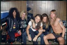 Guns N' Roses - Slash, Duff Mckagan, Lars, Sebastian Bach & Axl Rose