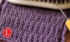 Rambler stitch on any knitting loom. Beginner easy knit and purl pattern and step by step video. Great for any project - boy or girl.