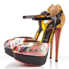 Christian Louboutin No.299 Trash 150mm Watersnake Pumps http://www.hhbon.com/christian-louboutin-no299-trash-150mm-watersnake-pumps-multicol-p-1228.html