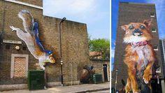 De superbes street art géants d'animaux sur les batiments de Londres