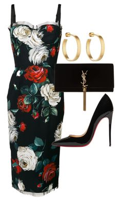 """Untitled"" by whoiselle ❤ liked on Polyvore featuring Dolce&Gabbana, Christian Louboutin, Yves Saint Laurent and Jennifer Fisher"