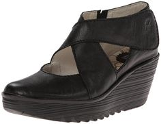 FLY London Women's Yogo Wedge Pump >>> A special product just for you. See it now! : Wedges Shoes
