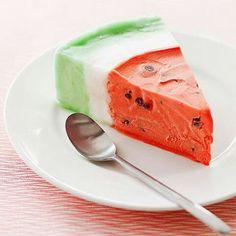 Watermelon Ice Cream Cake.