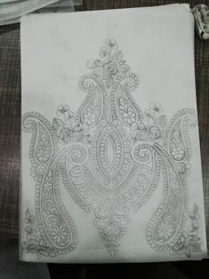 Zardosi Embroidery, Embroidery Motifs, Paper Embroidery, Motif Design, Border Design, Corset Sewing Pattern, Wood Burning Stencils, Paisley Art, Border Embroidery Designs