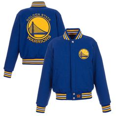 a712934241e Golden State Warriors JH Design Women s Embroidered Logo Wool Jacket – Royal
