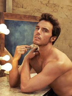 Sam Claflin... It doesn't even matter that I have no idea what you're doing in this picture