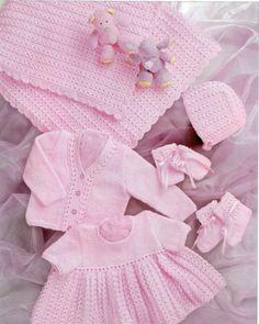 BABY KNITTING PATTERN  Shawl Dress Cardigan/Sweater by carolrosa, $1.67