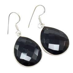 Silvestoo India Black Onyx Gemstone 925 Sterling Silver Earring PG-100783   https://www.amazon.co.uk/dp/B06XXGK4CC
