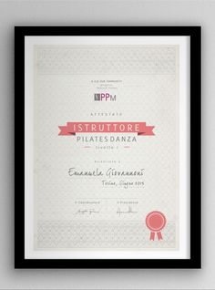 Sports Certificate: pilates and yoga by e.g, via Behance